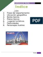 """El departamento de Tacna """" La ciudad Heroica"""""""