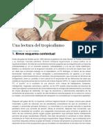 VILELA, Nicolas, Una Lectura Del Tropicalismo