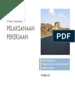 Metode Pelaksanaan Jalan Lingkar Pulau Masela