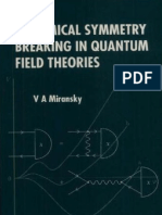 Miransky, Dynamical Symmetry Breaking in Quantum Field Theories