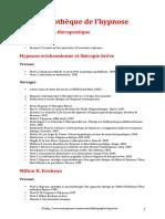 Bibliotheque delHypnose ecrit