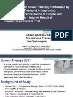 Interim Results Shoulder Study ISBT HK