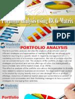 Portfolio Analysis Using BCG Matrix