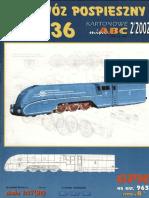 Papercraft - PaperModel - Train - Locomotive Pm36