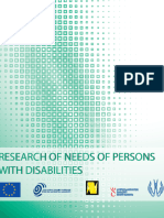 Research of needs of persons with disabilities. Tbilisi City Municipality Tbilisi