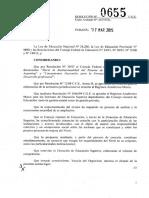 0655-15 CGE Rgimen Acadmico Marco Institutos de Educ. Superior - Ampl-A Alcances de La Res. 1066-09 CGE