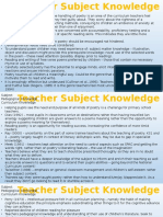 teachers subject knowledge
