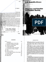 Structure and Function in Primitive Society Radcliffe-Brown