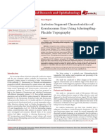 Anterior Segment Characteristics of Keratoconus Eyes Using Scheimpflug- Placido Topography