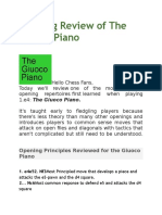 Opening Review of the Giuoco Piano
