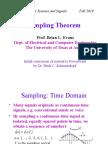 Sampling Theorem Lecture 16