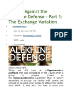 Playing Against the Alekhine Defense Part 1