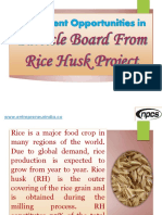Investment Opportunities in Particle Board From Rice Husk Project