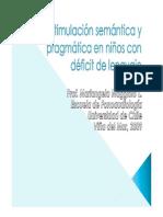 Estimulación Semántica y Pragmática