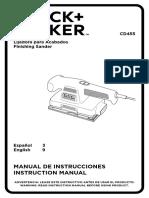 Manual Lijadora Black and Decker Cd455