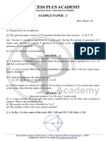 Class 9th Math Sample Paper