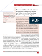 Burden of HIV Infection in Children with Severe Acute Malnutrition at the University of Abuja Teaching Hospital Gwagwalada, Nigeria