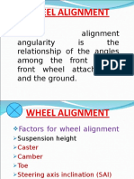 AUTOMOBILE (4) 3- Wheel Alignment