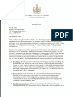 Purple Line Letter to Secretary Pete Rahn