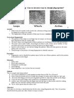 Fingerprinting Worksheet