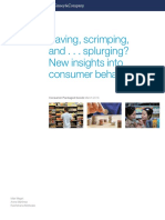 Saving Scrimping and Splurging New Insights Into Consumer Behavior