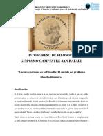 II Congreso de Filosofía GSR 2016