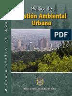 Política Gestion Ambiental Urbana