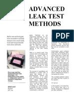Leak Testing Methods
