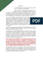 Auxílio Transporte - Coletivo - Despacho - 2005