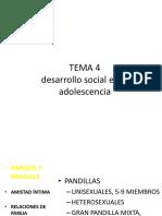 Desarrollo Social en La Adolescencia