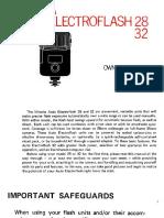 Minolta Auto Electroflash 28-32 Owner's Manual - AE 28-32 712E-D2