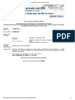 Constancia de Trádfmite - Duplicado de DNI