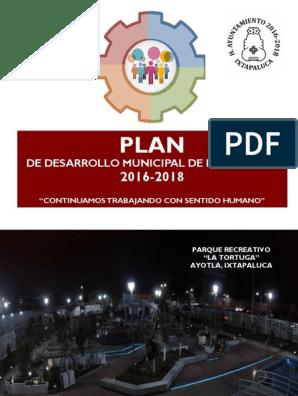 Plan De Desarrollo Municipal De Ixtapaluca 2016 2018