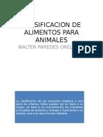 Clasificacion de Alimentos Para Animales