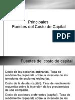 Fuentes del Costo de Capital