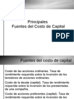Fuentes del Costo de Capital