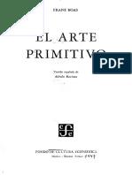 El Arte Primitivo  Franz Boas