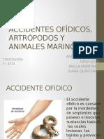 Accidentes Ofídico Artrópodo y Animales Marinos