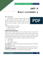 Unit II Electrochemistry.