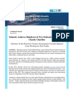 Schuette Achieves Shutdown of Two National Charity Sham Charity Charities