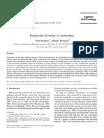 Functional Diversity of Nematodes - Bongers & Bongers