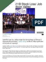 linkedin  11b stock loss  job crisis in silicon valley