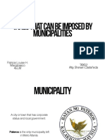 Tax Presentation - Tax that can be imposed on Municipalities
