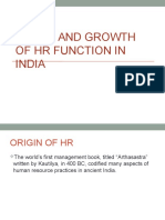Evolution of HRM in India