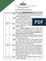 Aiims Test Series Schedule 2016