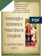 Humanização no Atendimento ao Idoso em Emergência
