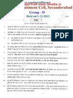 2013 Rrb Secunderabad Hindi Www.qmaths.in