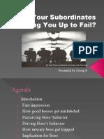 Are Subordinates Setting You Up to Fail