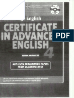Certificate In Advanced English 1 Book