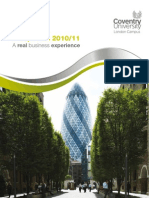 Coventry University London Campus MBA and Undergraduate Degree Prospectus
